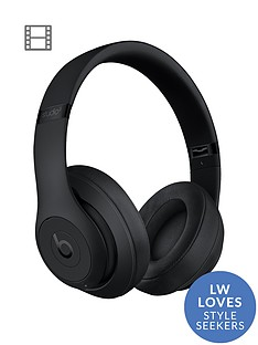 Beats by Dr Dre Studio 3 Wireless Headphones - Matt Black