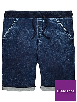 v-by-very-boys-blue-ribbed-jog-shorts