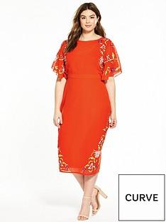 v-by-very-curve-embroidered-kimono-dress