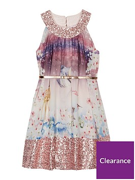 baker-by-ted-baker-girls-woodland-print-sequinned-trim-belted-dress