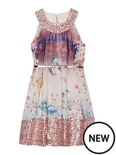 baker-by-ted-baker-girls039-multi-coloured-woodland-scene-sequinned-trim-belted-dress