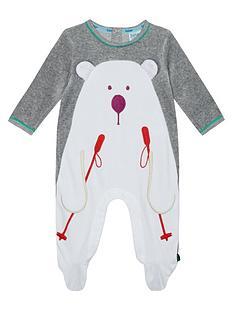 baker-by-ted-baker-baby-boys039-grey-skiing-polar-bear-sleepsuit
