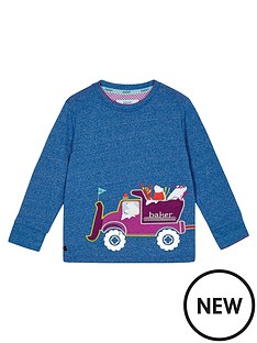 baker-by-ted-baker-boys039-blue-truck-applique-jumper