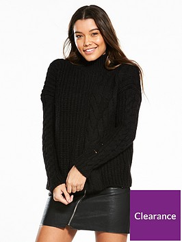 river-island-cable-knit-jumper--black
