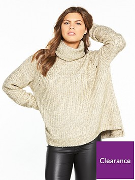 river-island-river-island-glitter-roll-neck-jumper--gold