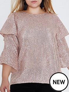 ri-plus-frill-sleeve-blouse--light-pink