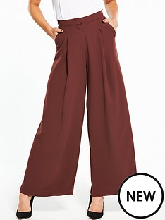 river-island-wide-leg-trousers--brown