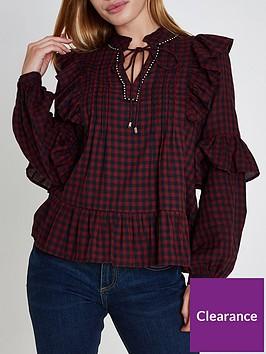 ri-petite-embroided-blouse--dark-check