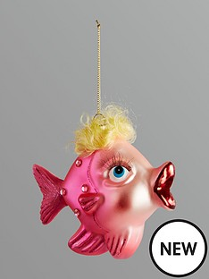 gisela-graham-painted-glass-fish-hanging-christmas-tree-decoration-pink