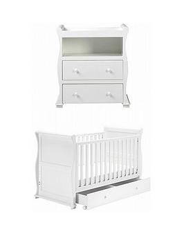 East Coast   Alaska Cot Bed And Dresser Changer - White