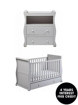 east-coast-alaska-cot-bed-dresser-changer-grey
