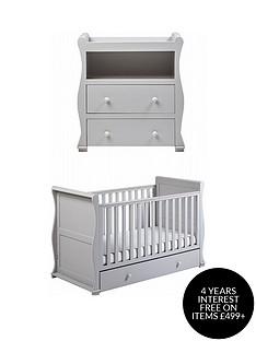 east-coast-east-coast-alaska-cot-bed-amp-dresser-changer-grey