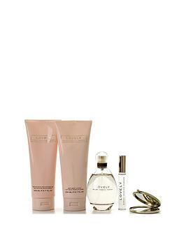 sarah-jessica-parker-lovely-edp-spray-100ml-body-lotion-200ml-shower-gel-200mlnbspampnbsprollerball-10mlnbspgift-set