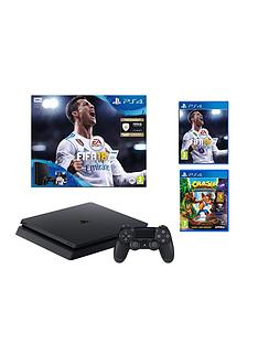 playstation-4-ps4-500gb-fifa-18-console-crash-bandicoot-n-sane-trilogy-plusnbspoptional-controller-and-or-12-months-psn-subscription