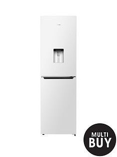 hisense-rb335n4ww1-55cm-wide-total-no-frost-fridge-freezer-with-non-plumbed-water-dispenser-white