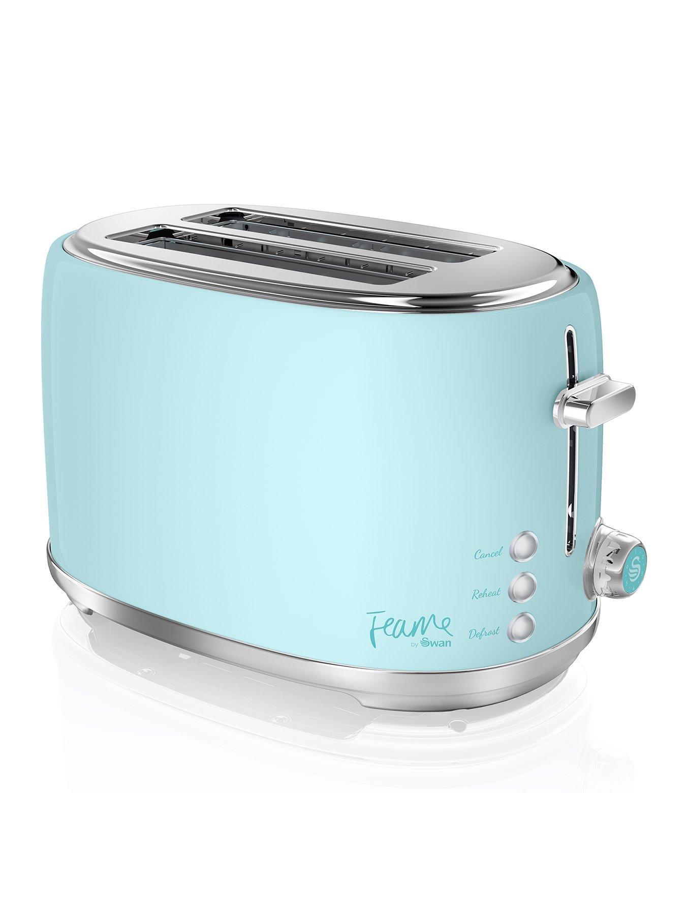 Mint Green Sq Pro.Dainty Toaster Kettle,Bread bin,Mug Tree Set Of 8//Individual