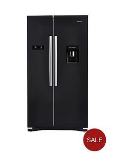 hisense-rs723n4wb1-american-fridge-freezer-with-non-plumbed-water-dispenser-black