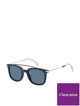 tommy-hilfiger-tommy-hilfiger-bluewhite-brow-bar-sunglasses