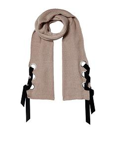 river-island-river-island-oatmeal-eyelet-fisherman-knit-scarf