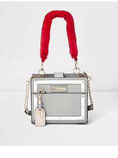 river-island-river-island-faux-fur-handle-boxy-tote-bag--grey