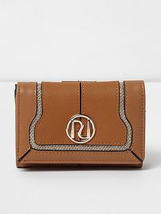 river-island-tan-mini-clip-top-purse