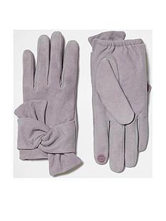 river-island-grey-suede-tied-glove