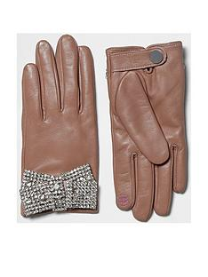 river-island-pink-embellished-bow-glove