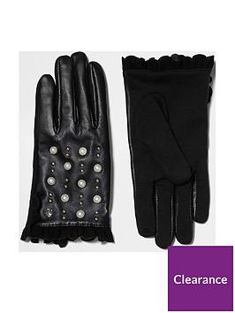 river-island-black-frill-stud-glove