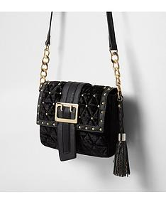 river-island-river-island-black-jacquard-bow-buckle-bag