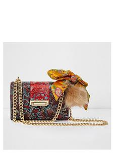 river-island-river-island-floral-jacquard-satin-scarf-crossbody-bag-red