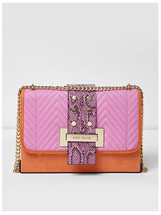 river-island-river-island-pink-orange-over-tab-cross-body-bag