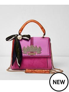 river-island-river-island-embellished-chain-tote-bag--pinkorange