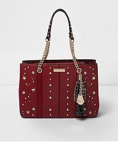 river-island-red-embellished-tote-bag