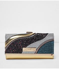 river-island-river-island-glitter-cutabout-cliptop-purse