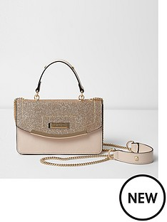 river-island-river-island-pink-chain-bar-front-underarm-bag