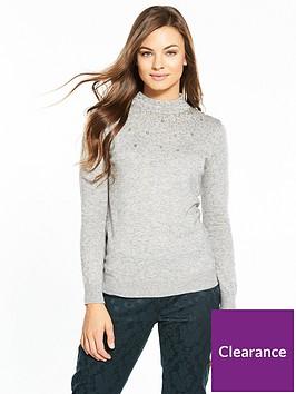 wallis-scatter-bead-high-neck-jumper-grey