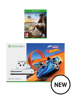 xbox-one-xbox-one-s-500gb-console-with-forza-horizon-3-hot-wheels-ghost-recon-wildlands