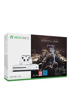 xbox-one-s-500gbnbspconsole-with-middle-earth-shadow-of-warnbspplus-optional-extra-wireless-controller-andor-12-months-xbox-live-gold