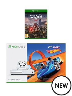 xbox-one-500gbnbspconsole-with-forza-horizon-3-hot-wheels-and-halo-warsnbspplus-optional-extra-controller-andor-12-months-xbox-live-gold
