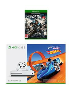 xbox-one-500gbnbspconsole-with-forza-horizon-3-hot-wheels-and-gears-of-war-4nbspplus-optional-extra-controller-andor-12-months-xbox-live-gold