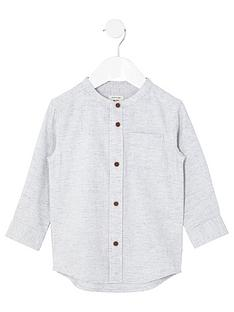 river-island-mini-boys-stone-herringbone-grandad-shirt