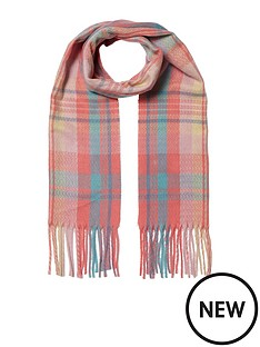 river-island-river-island-girls-pink-oversized-check-scarf