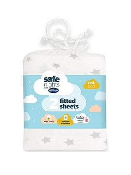 silentnight-pack-of-2-jersey-printed-stars-fitted-cot-bed-sheets