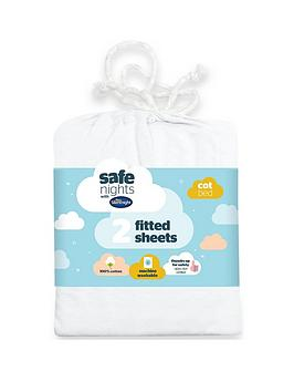 Silentnight Silentnight Pack Of 2 Jersey Fitted Cot Bed Sheets Picture