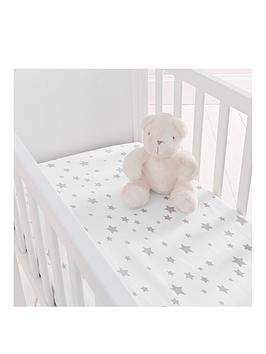 Silentnight Silentnight Pack Of 2 Jersey Printed Stars Fitted Crib Sheets Picture