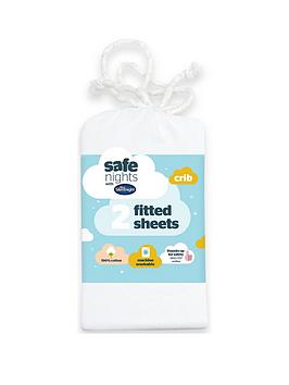 Product photograph showing Silentnight Pack Of 2 Jersey Fitted Crib Sheets