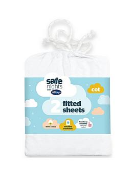 Silentnight Silentnight Pack Of 2 Jersey Fitted Cot Sheets Picture