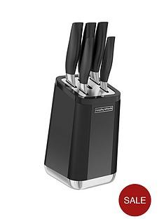 morphy-richards-aspect-5-piece-knife-block-set-ndash-black