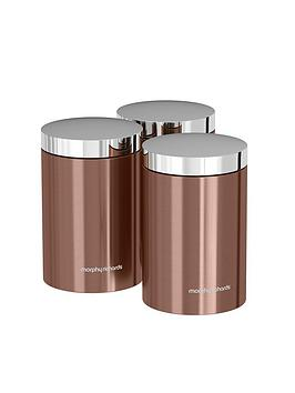 Morphy Richards Accents Set Of 3 Storage Canisters &Ndash; Copper