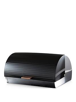 tower-linear-rose-gold-roll-top-bread-bin-ndash-black